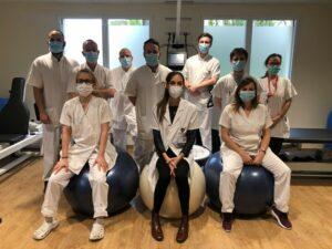 équipe rééducation avec les masques février 2021